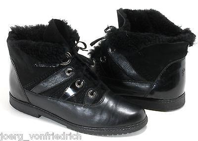 Schnürstiefel Stiefeletten Blogger Flats Lederschuhe Ankle Boots Schnürschuhe 39
