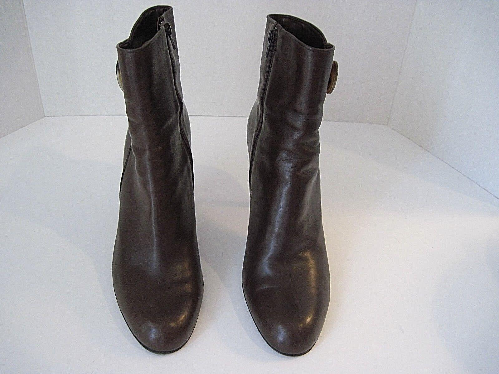 MICHEL PERRY (ITALY) Gorgeous Braun Leder Ankle Ankle Ankle Stiefel Größe Zip Größe 40 6dc619