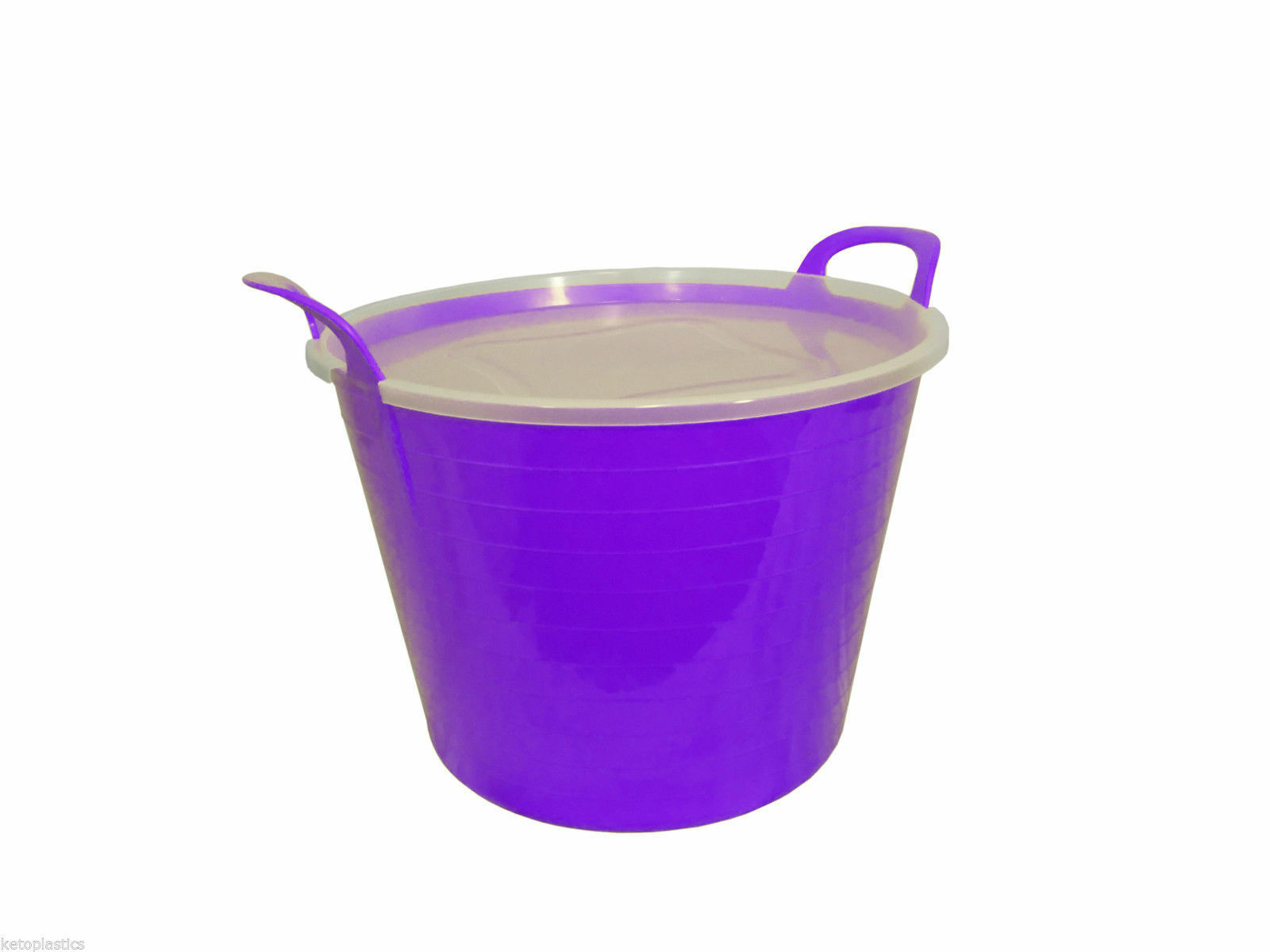 26 L Purple Flexi Tub complete with Lid Storage Bucket, conteneur portait, flexible, conteneur Bucket, 91b012