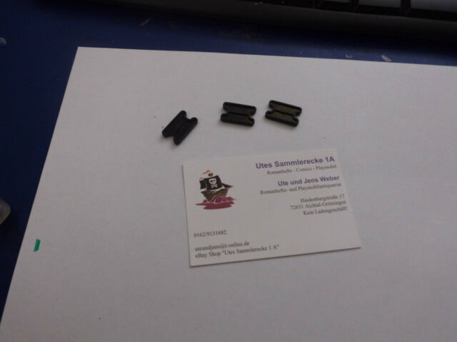 Playmobil 3 x schwarze Verbinder Klicky
