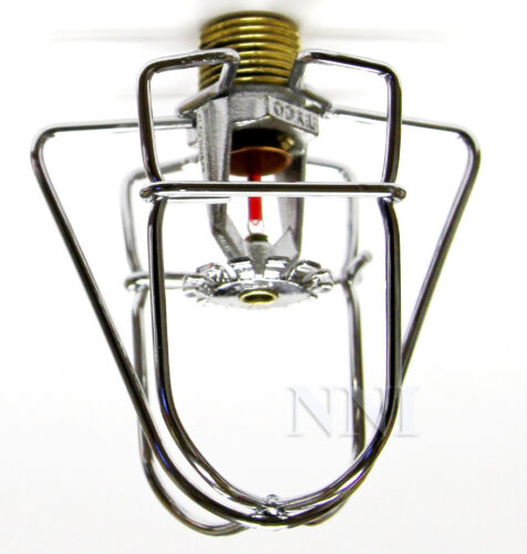 "Fire Sprinkler Headguard Cage1Pc 2 Hook Chrome 1//2/"" IPS"
