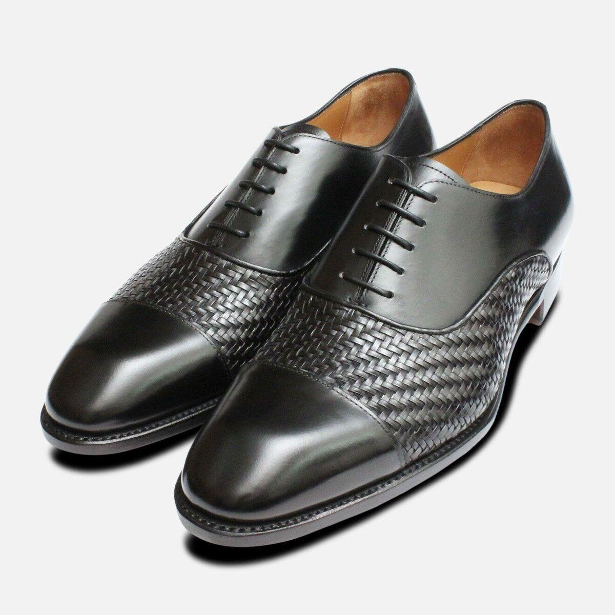 Nero Weave Oxfords da Carlos Santos Scarpe | Buona qualità  | Gentiluomo/Signora Scarpa