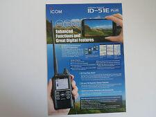 ICOM-ID-51E PLUS (GENUINE LEAFLET ONLY)..........RADIO_TRADER_IRELAND.