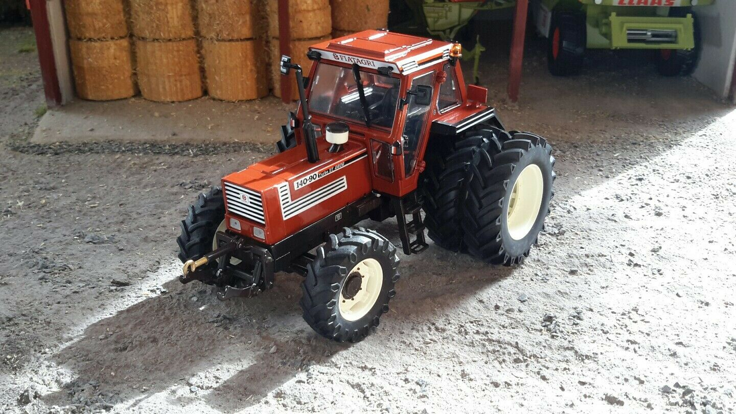 REPLICAGRI FIAT 140-90 dt DW WITH REAR DUAL WHEELS 1 32 SCALE MODEL TRACTOR
