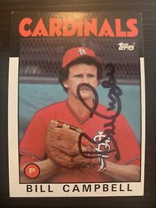 1986 Topps #112 Bill Campbell St Louis Cardinals Signed Card Autographed