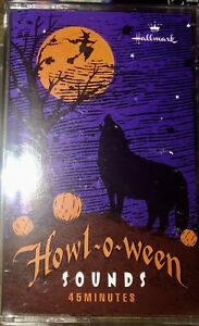 HOWL-O-WEEN-SOUNDS-45-MINUTES-Halloween-Cassette-Tape-HALLMARK-VINTAGE-1980-s