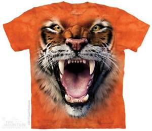 Roaring-Tiger-Face-Kids-T-Shirt-by-The-Mountain-Wild-Tiger-Sizes-S-XL-Youth-NEW