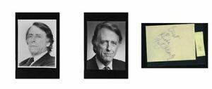 Fritz Weaver - Signed Autograph and Headshot Photo set - Creepshow