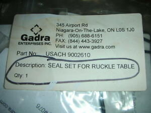 Ruckle Rotary Table Seal Kit Usach 9002610 Table For