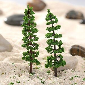 10Pcs-Vivid-Model-Pine-Trees-Train-Railway-Park-Street-Scenery-Layout-HO-N-Scale