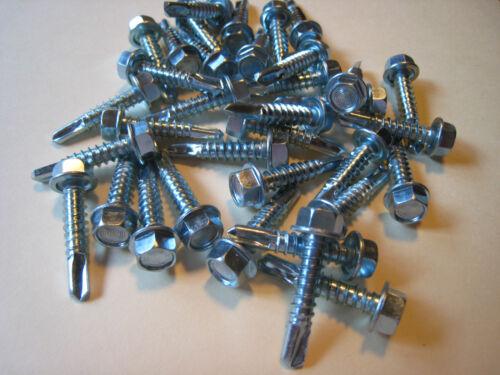 """#12 X 1/"""" LG  Hex Washer Self Drilling Sheet Metal Screw  500pcs."""