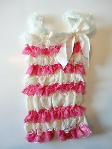 Clothing, Shoes & Accessories Girls' Clothing (newborn-5t) Petti Romper Girls Boutique Outfit Photo Prop Size 0-12m Bubblegum/cream Yet Not Vulgar