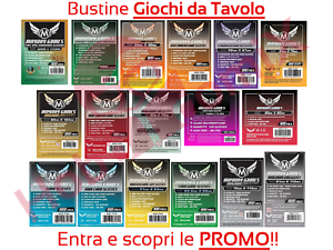 100-Bustine-Protettive-Giochi-da-Tavolo-di-Societa-MayDay-Games-TUTTE-LE-MISURE