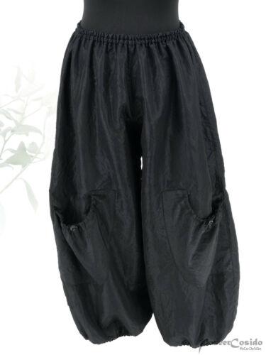 Poco Lagenlook palloncino-Pantaloni Nero Taft L-XL-XXL-XXXL 44 46 48 50 52 54 56 58