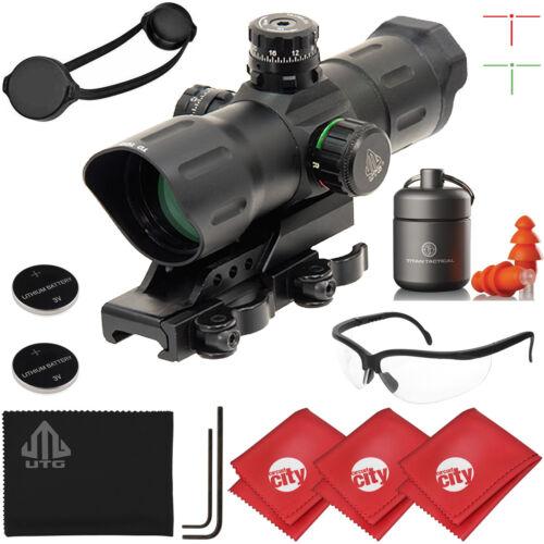 "UTG 6/"" 1x39 ITA Red//Green CQB T-Dot Rifle Sight w// Glasses Ear Plugs SCP-TDTDQ"