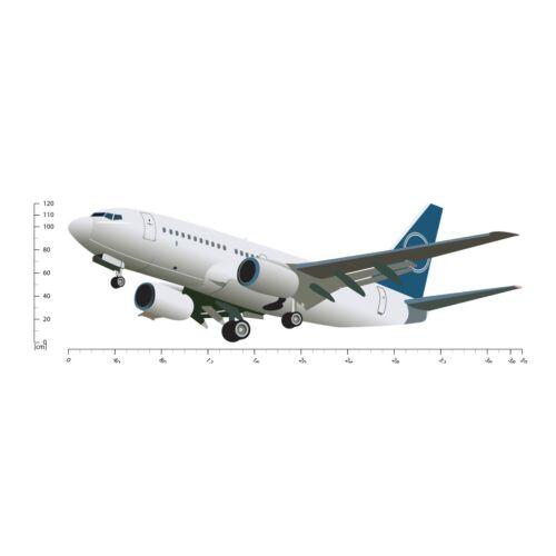 Weiß Flugzeug Wandtattoo WS-41180