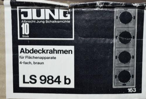 E2 Jung Flächen-Rahmen braun LS 984 b 4-fach