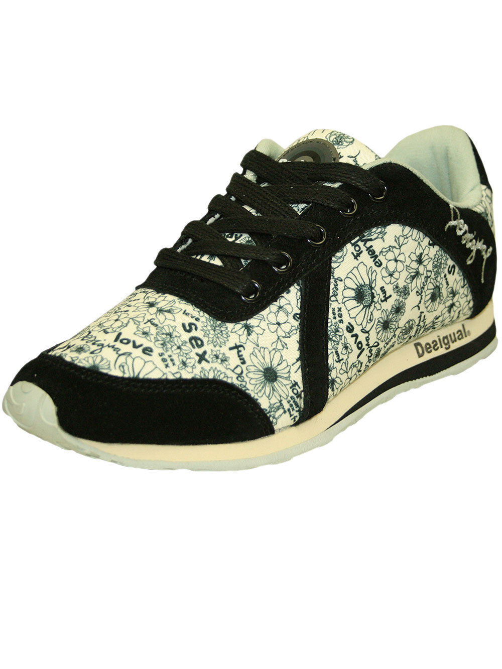 Desigual cortos señora zapato * running 7 * en estrella negra (negro), nuevo + embalaje original!