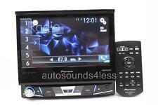 "Pioneer AVH-X7700BT RB DVD/CD/MP3 Player 7"" Flip Up LCD Bluetooth Siris Eyes"