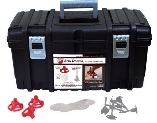 Spin Doctor Tile Leveling System Pro Kit 200 Caps 500 Bases 100 Shields