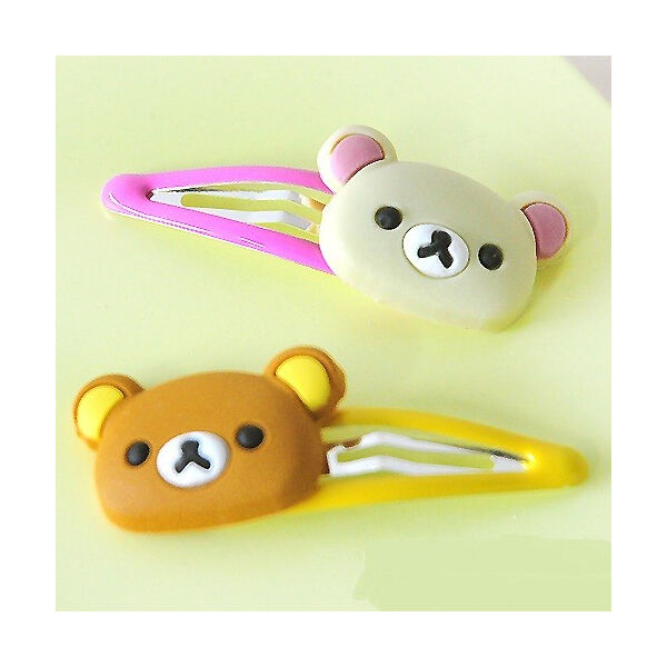 Rilakkuma Hair Pin Accessory: Ivory & Brown 2 pc Set