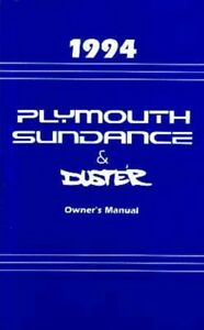 image is loading 1994-plymouth-duster-sundance-owners-manual-user-guide-
