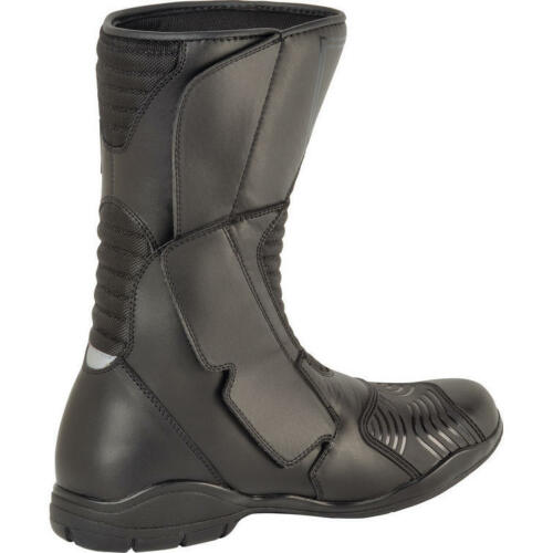 AKITO PATHFINDER BLACK LEATHER WATERPROOF TOURING MOTORCYCLE BOOTS ALL SIZES