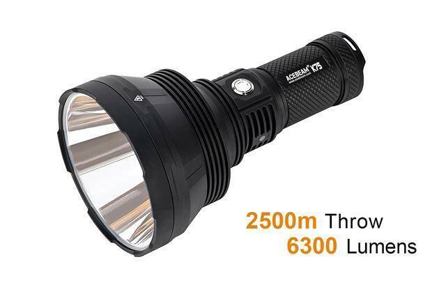 Acebeam K75 Long Throw Search Light - 6300  Lumen, 2500 Meter throw, Original Fac  stadium giveaways