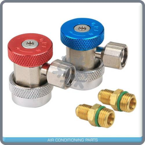 """High//Low Adjustable AC R134a Quick Coupler Connector Adapter 1//4/"""" SAE"""