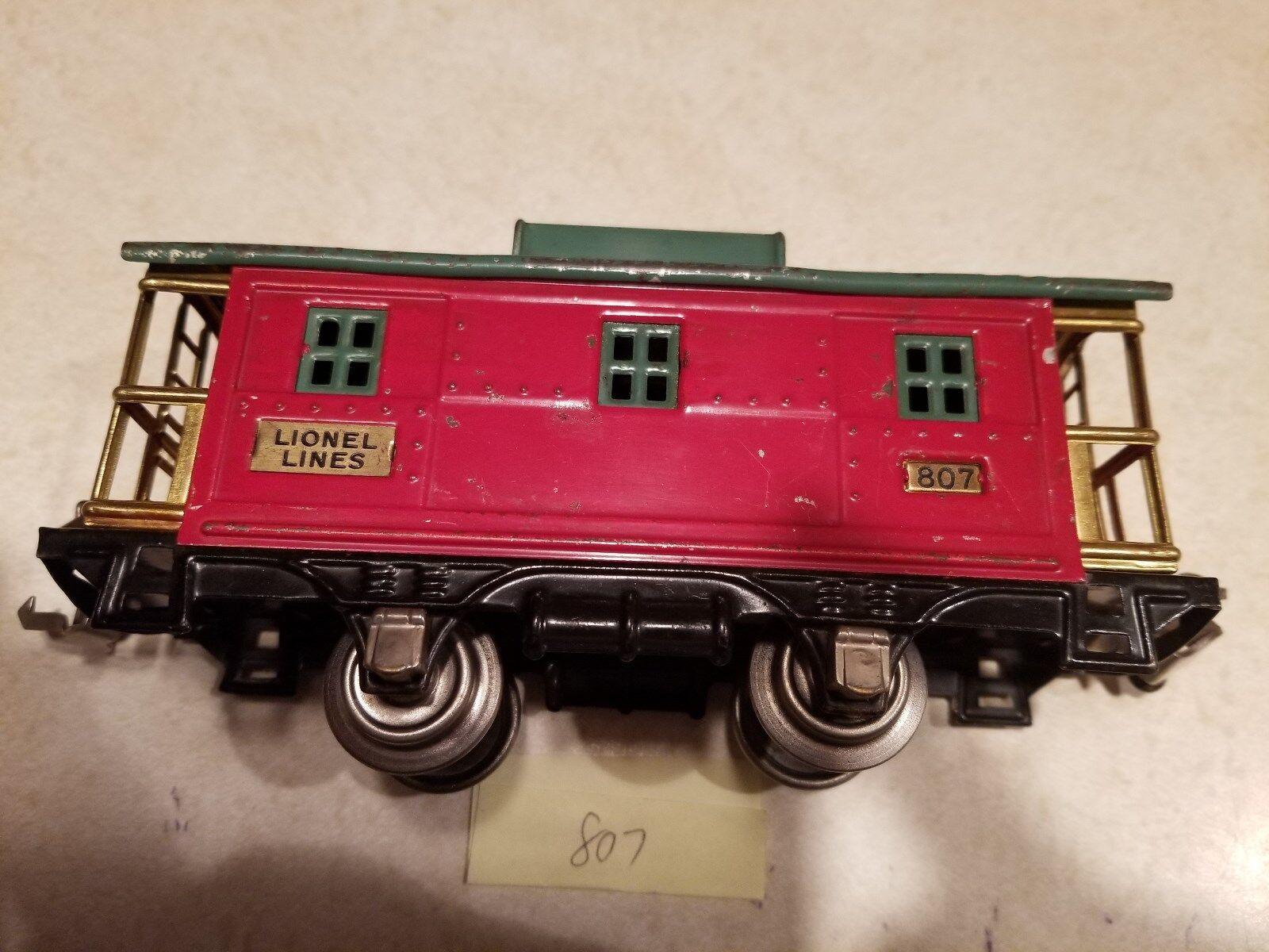 Lionel 807 Caboose 'O' Prewar 27-40 (JS)