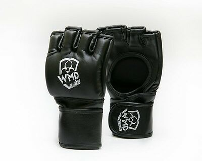 MMA Grappling UFC Gloves Rex Leather Fighter Boxing Punch Bag Sparring Mitt