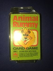 Animal-Rummy-Cards-Golden-MIB-1988-Western-Publishing-4908-2