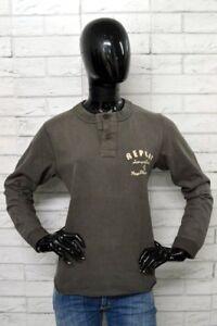 Felpa-Donna-REPLAY-Taglia-Size-M-Sweater-Woman-Jumper-Cotone-Maglione-Pullover