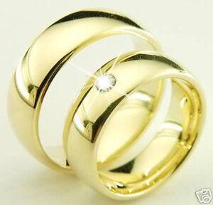 Noble-Eheringe-Trauringe-585-Gold-14-Kt-Mit-Diamant-Gelbgold-Massiv-6-mm-breit