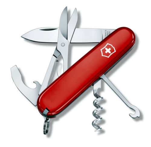 COUTEAU SUISSE VICTORINOX COMPACT 15 OUTILS ROUGE NEUF 1.3405
