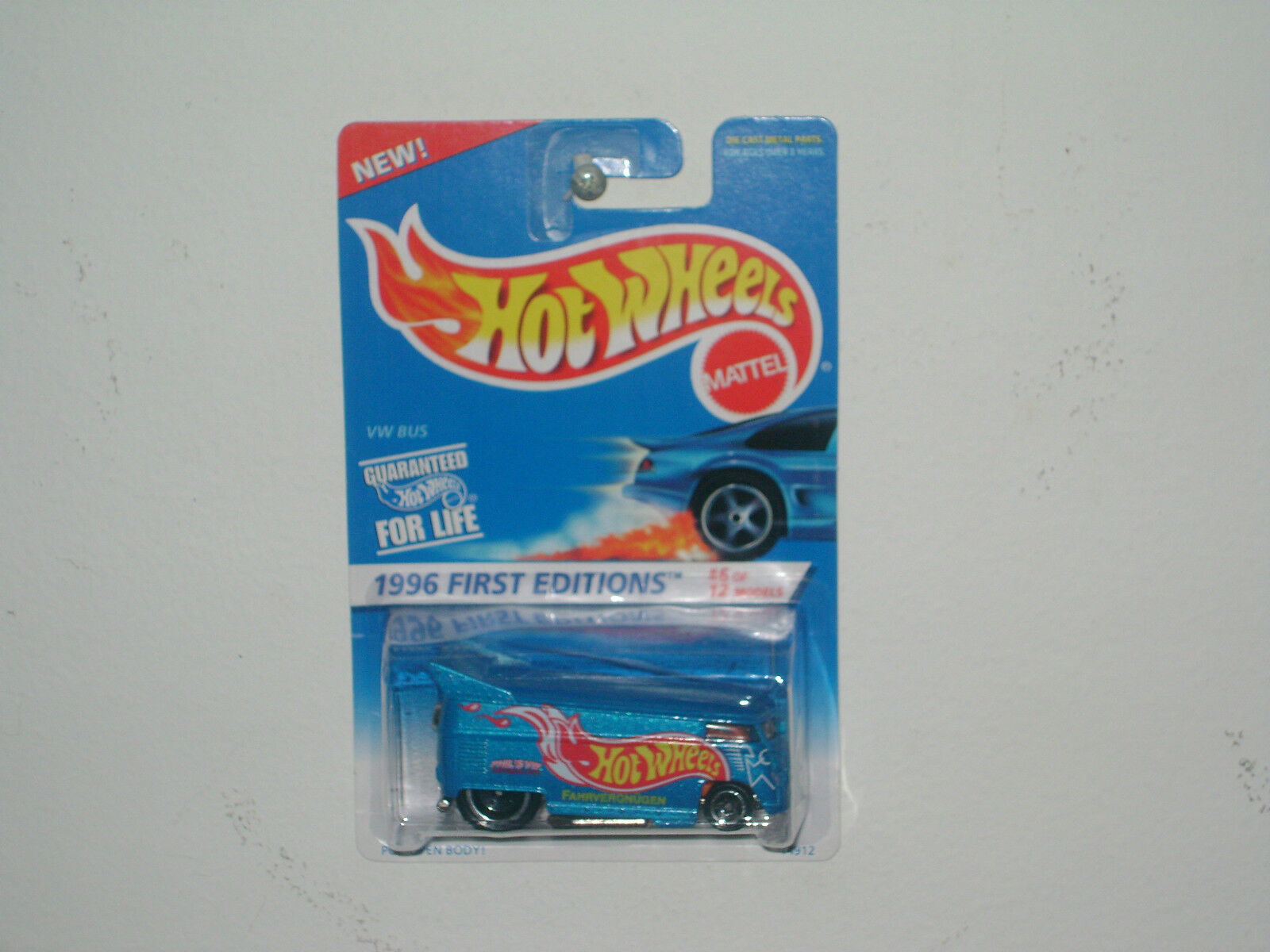 HOT WHEEL `96 FIRST EDITION VW BUS MOC NICE