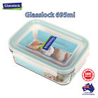 Glasslock 695ml Rectangle Food Container Meal Glass Storage BPA Free Micro Safe