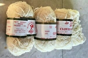 Vintage-Lee-Target-101-Ecru-Clover-Boucle-Knitting-Yarn-Crafts-100-Wool-100g-H1