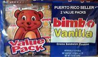 Puerto Rico Bimbo Vanilla Cream Sandwich Cookies Galletas Candy Sweets Snacks 2a
