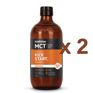 2 x New Melrose MCT Oil 500ml Original Natural Fuel For Brain & Body Performance