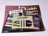 Vintage Key Kaddy, Keeps Spare Keys In Wallet, Credit Card Size 1980's