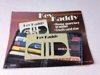 Vintage Key Kaddy, Keeps Spare Keys In Wallet, Credit Card Size 1980's
