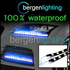 2x 1000mm Exterior Azul headlamp/bumper 12v Smd5050 Drl Luz De Ambiente Tiras