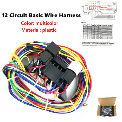 wire harness box 12 circuit basic wire harness fuse box street hot rat rod wiring wire harness board accessories 12 circuit basic wire harness fuse box