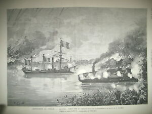 TONKIN-HAI-ZUONG-PAVILLON-NOIR-CANNONIERE-EXPEDITION-SCIENTIFIQUE-GRAVURES-1884