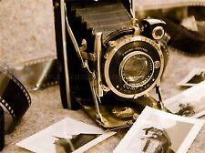 CULTURAL PHOTO CAMERA FILM SHUTTER LENS SEPIA POSTER ART PRINT BB22A