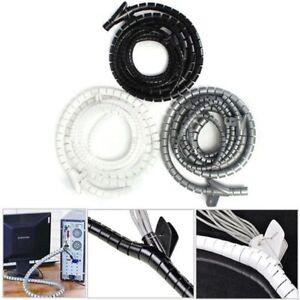2M-5M-15mm-Spiralband-Kabelschlauch-Wickelschlauch-ordentliche-PC-Heimkino-DE
