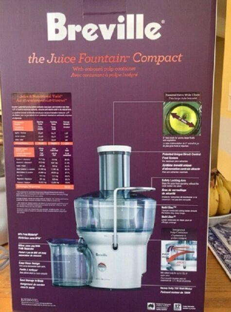 Breville Bje200xl Juice Fountain Compact Fruit Vegetable Juicer For Sale Online Ebay