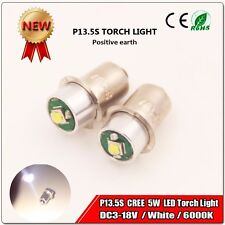 4XP13.5S Cree 5W Led Flashlight Headlight bulb  Lantern Work Light DC3-18V 6000K