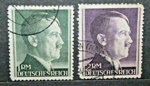 FRANCOBOLLI-GERMANIA-REICH-1942-EFFIGE-ADOLF-HITLER-TIMBRATI-USED-J-16